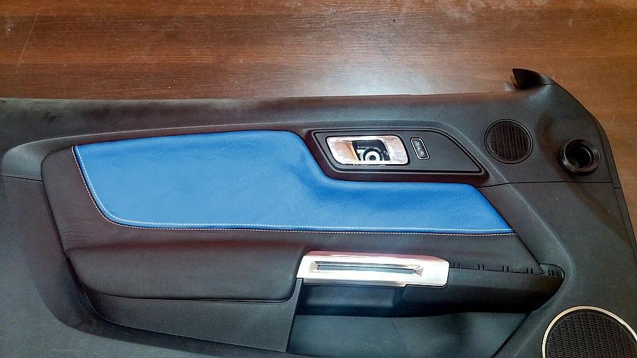 2015 2018 Ford Mustang Custom Door Panel Inserts Non Pleated