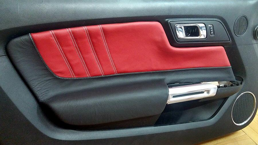 2015 2018 Ford Mustang Custom Door Panel Inserts Pleated